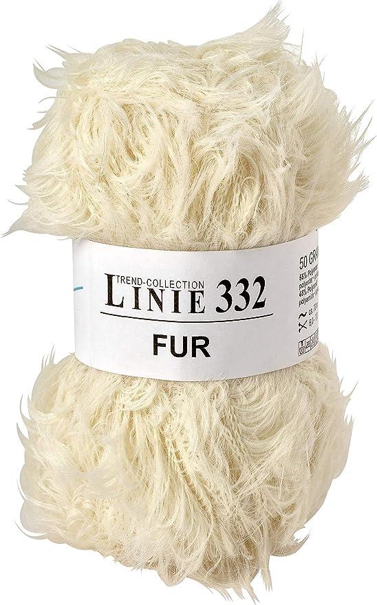 ca Farbe 0002-50 g LINIE 332 FUR von ONline 70 m Wolle