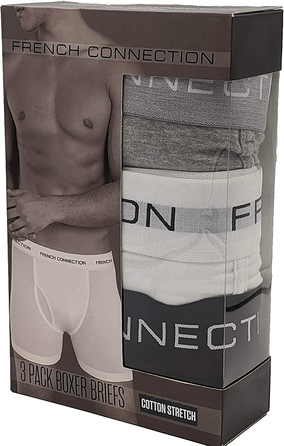 FCUK French Connection 3 pk Boxer Briefs Men/'s Small  NEW NIB