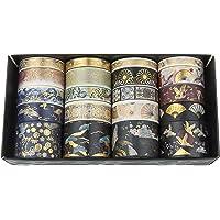 Diealles Shine Gouden folie reizen Washi Tape, 20 rollen decoratieve tape ambachtelijke benodigdheden voor doe-het-zelf…