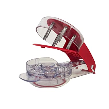 YouTensils Cherry Pitter Stoner & Olive Tool - 6 Cherries at Once   Includes Cherry Recipe EBOOK
