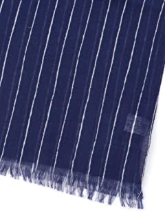 Ships Cotton Stripe Scarf 118-30-0022: Blue