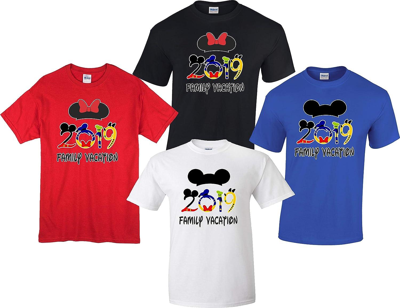 c1ac5ed10 Amazon.com: Disney Family Vacation 2019 Mickey Minnie Trip Matching Shirts:  Clothing