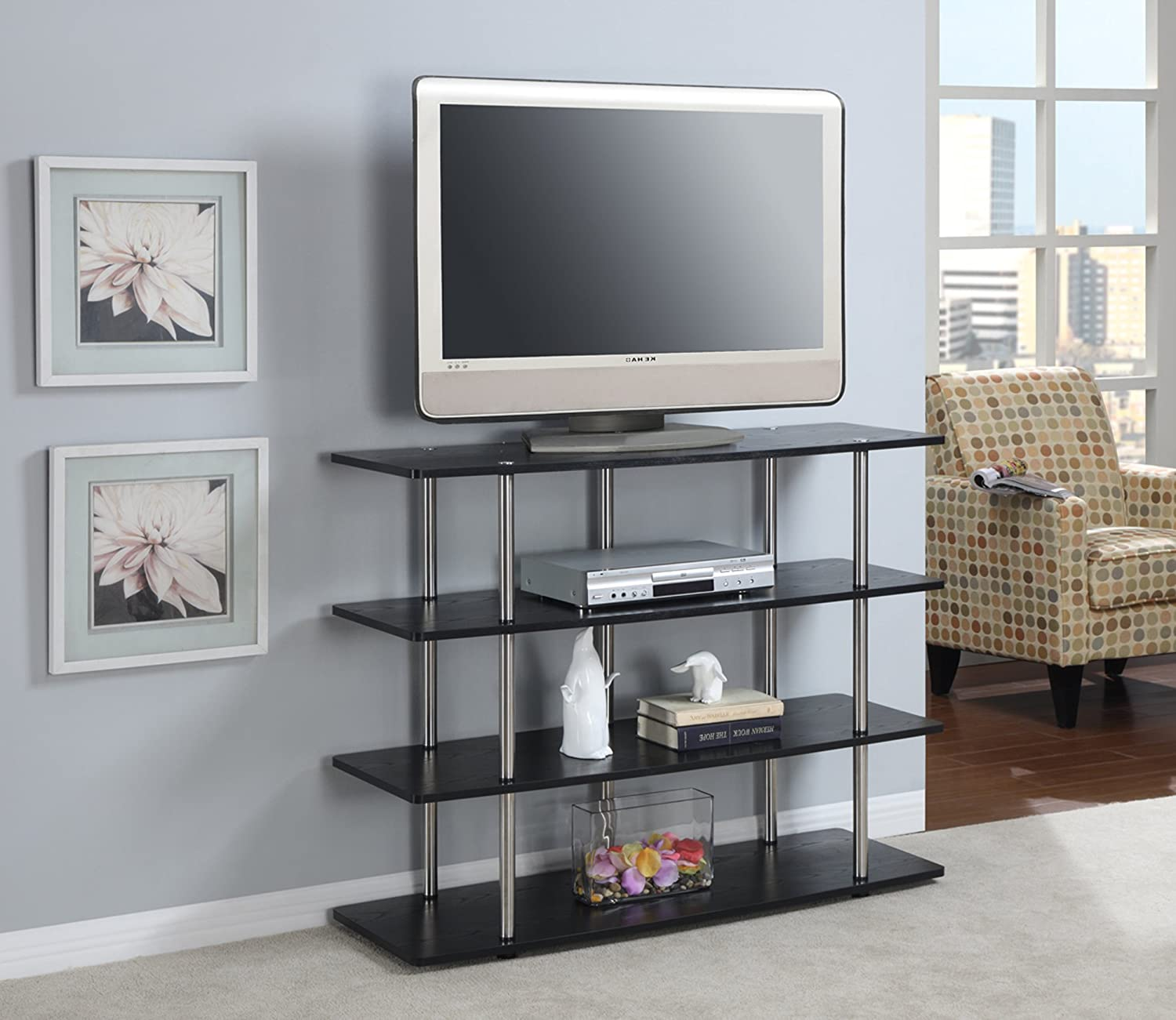 Ordinaire Amazon.com: Convenience Concepts Designs2Go Highboy TV Stand, X Large,  Black: Kitchen U0026 Dining