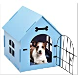 Tristar Products-us, Craft Wood Dog House, with Door And Window, Indoor Kennel for Small Dogs,Cats, Pet With Bed Mat
