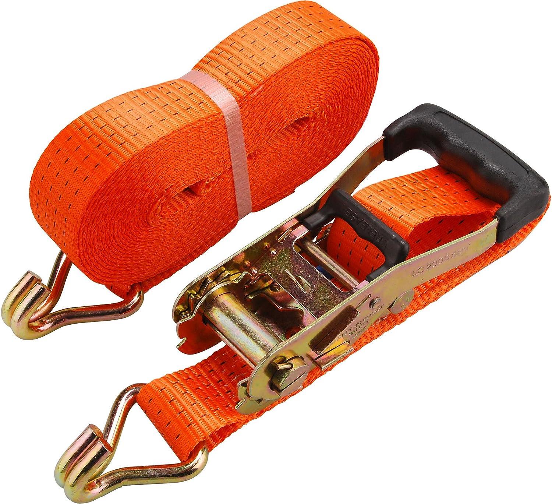 EXTOL PREMIUM Sangle avec cliquet et crochets 3m x 50mm max./4000 kg