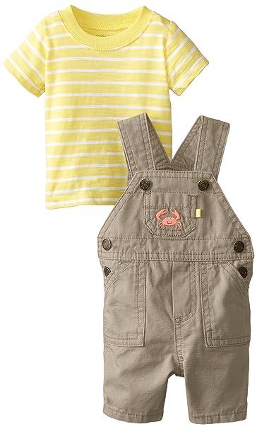 Amazon.com: Del Carter bebé Boys 2 piezas Shortall Set ...