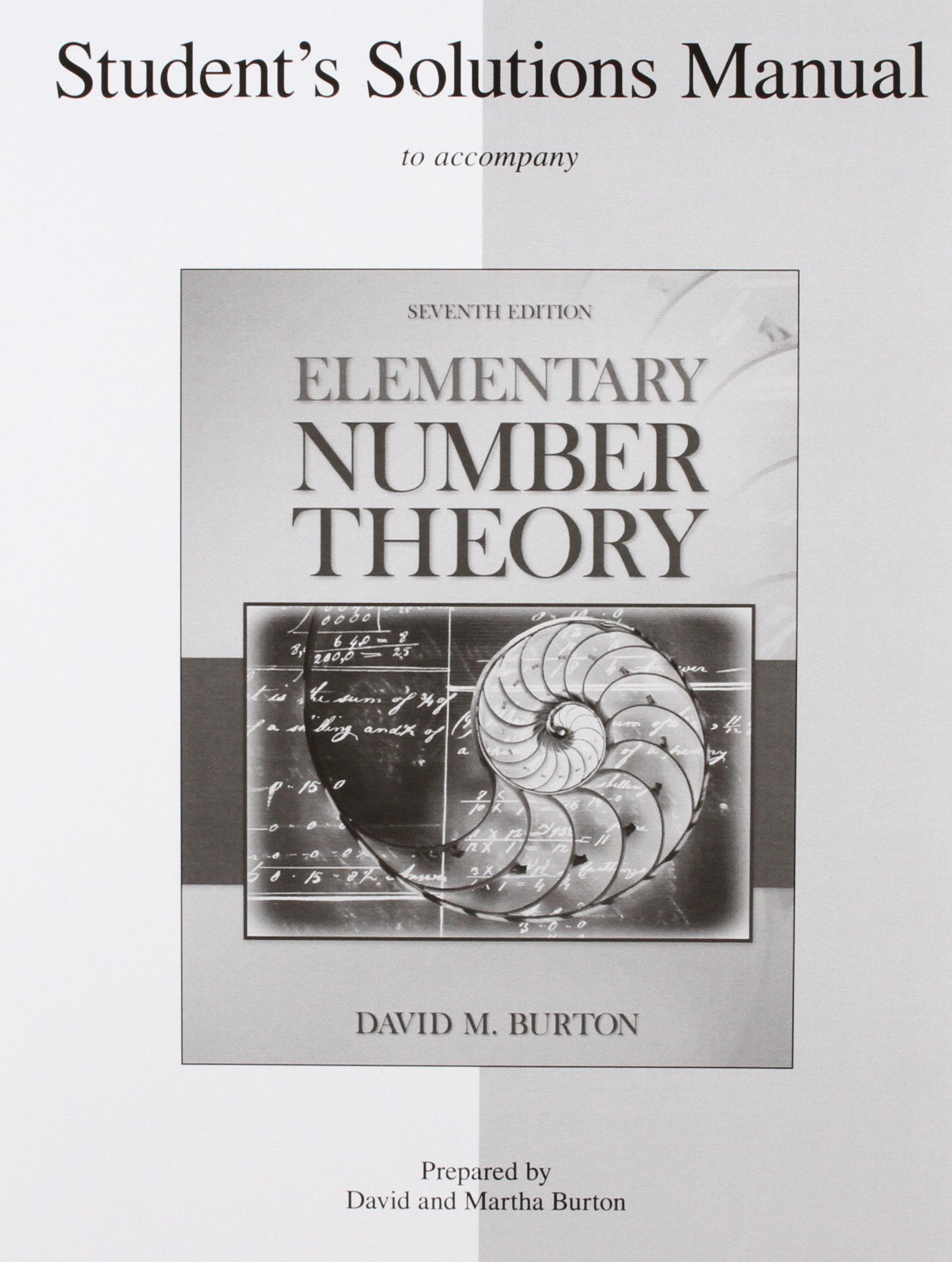 Student's Solutions Manual Elementary Number Theory: David Burton:  9780077298463: Books - Amazon.ca