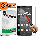 [3-Pack] LG Stylo 2 Screen Protector, PThink® [Tempered Glass] [9H Hardness] [Anti-Scratch] [Fingerprint Resistant] [Easy-Install] Screen Protector for LG Stylo 2