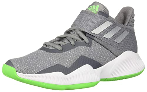 designer fashion a9852 dfb06 adidas Unisex Explosive Bounce 2018 Basketball Shoe, Grey Silver  Metallic Shock Lime,