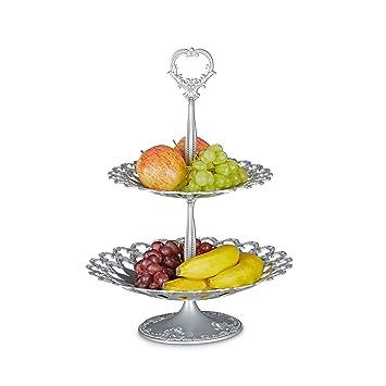 Relaxdays Serviteur à gâteaux présentoir à fruits étagère en ...