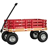 "Berlin Flyer Sport Wagon - Model F410 - Amish Made in Ohio, USA - 10"" No-Flat Tires (Red)"