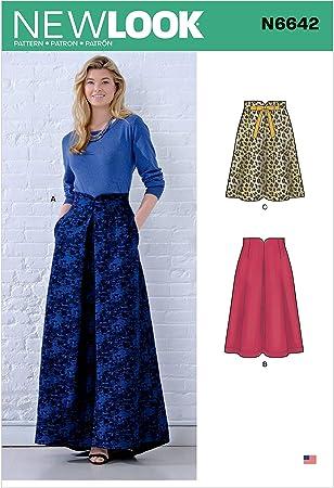 New Look N6642 - Patrones de costura para faldas de cintura ...