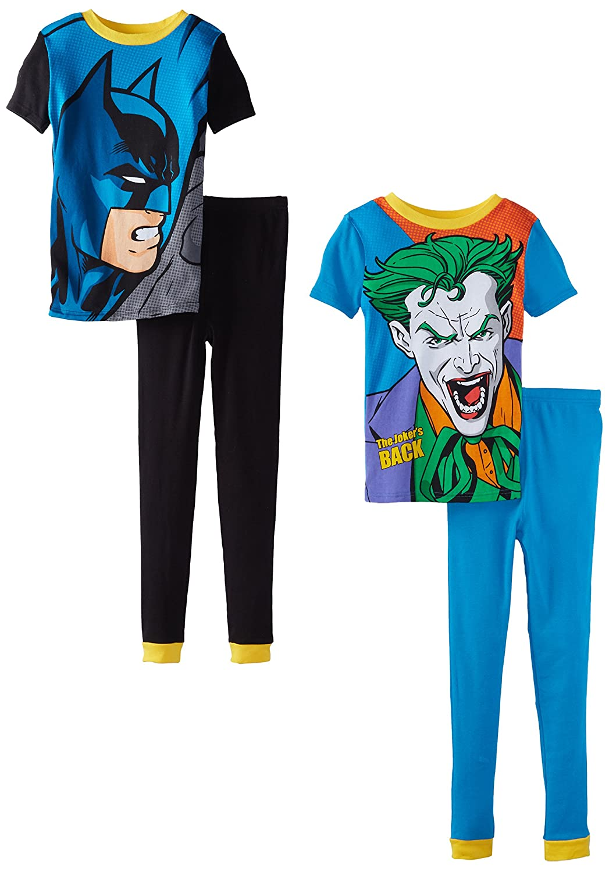 Batman Boys Four-Piece Pajama Set Komar Boys 2-7 K157462BM