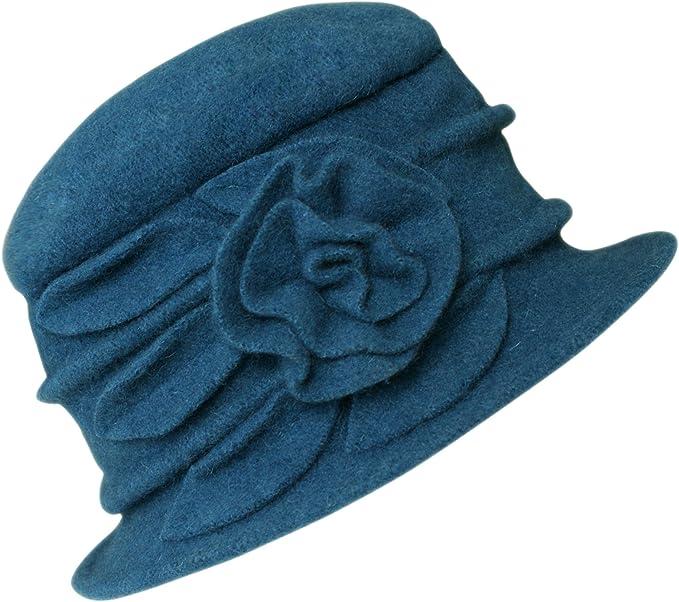 Urban GoCo Lana Cloche Sombreros Gorras para Mujer Vintage Floral ...