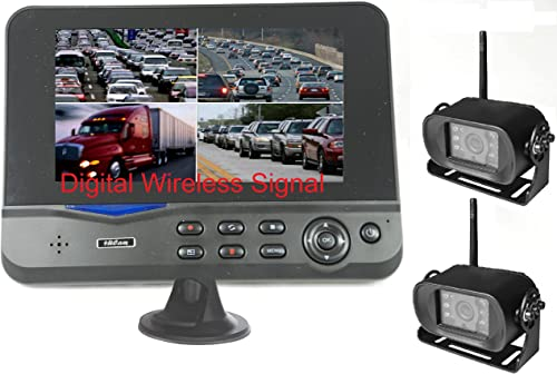 4Ucam TWO Digital Wireless Camera 7 Monitor Quad-view Split screen for Bus, RV, Trailer, Motor Home, 5th Wheels and Trucks Backup or Rear View
