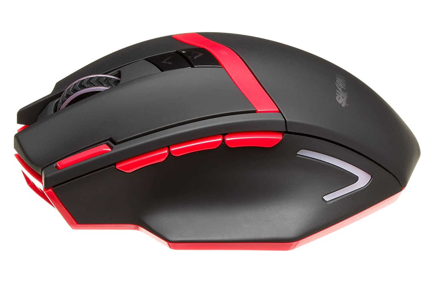 eac9ddd0916 Amazon.com: SHARKK® Wireless Gaming Mouse 2400 DPI High Precision Optical  Mouse for PC, 9 Buttons, 12 Month Battery Life.: Video Games