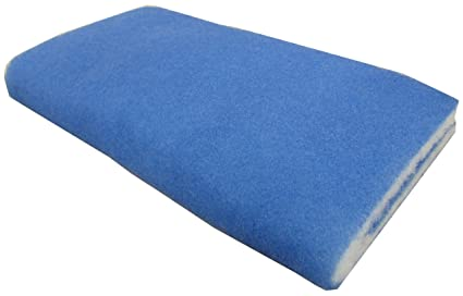Cleaning & Maintenance Pet Supplies Usa Deep Blue Bonded Filter Cut To Fit Media Dual Density Pads 24x15