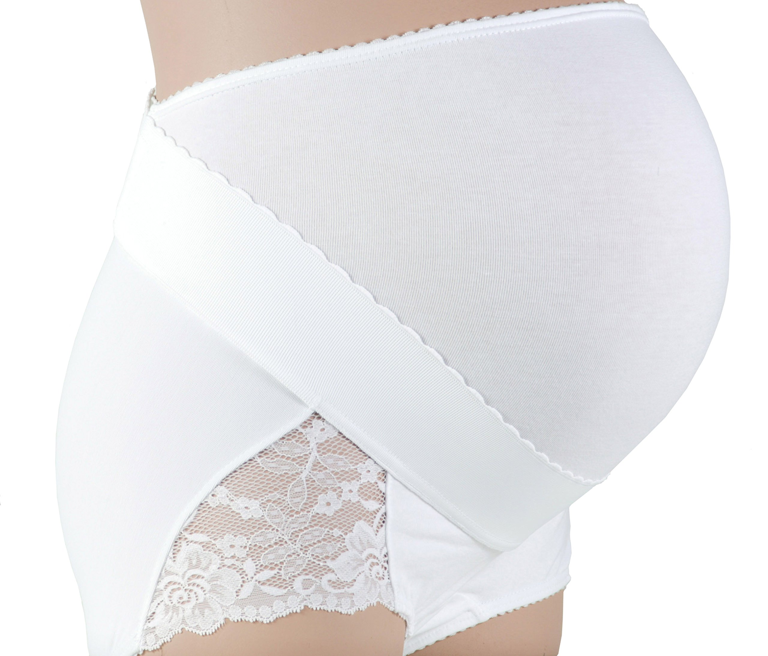 Gabrialla Maternity Support Girdle-Panty with Adjustable Band (light support), Large