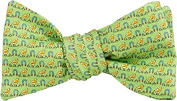 57611b5900ef Peter-Blair Men's Green Chick Magnet 100% Silk Bow Tie Handmade in USA(