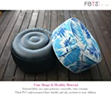 FBTS Prime Outdoor Inflatable Ottoman Blue Leaf