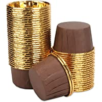 Aluminum Foil Cupcake Cups, Eusoar Disposable Muffin Liners 50Pcs, Baking Cups, Aluminum Cupcake Tip Pan Ramekin Holders…