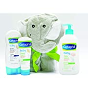 Cetaphil Baby Sensitive Skin Bath Time Essentials Gift Set with Elephant Hoodie Towel