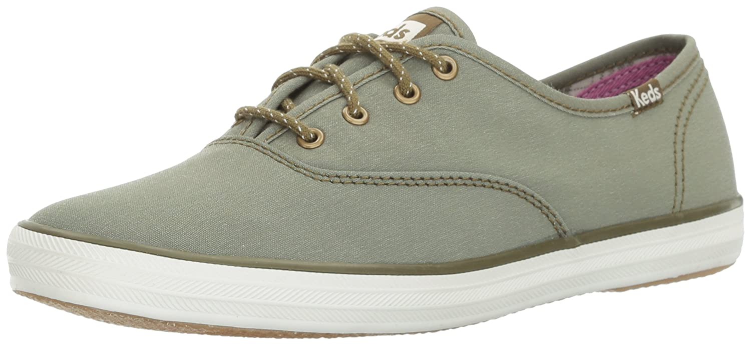Keds Women's Champion Chambray Nylon Wx Fashion Sneaker B06XFY76S6 8.5 B(M) US|Olive