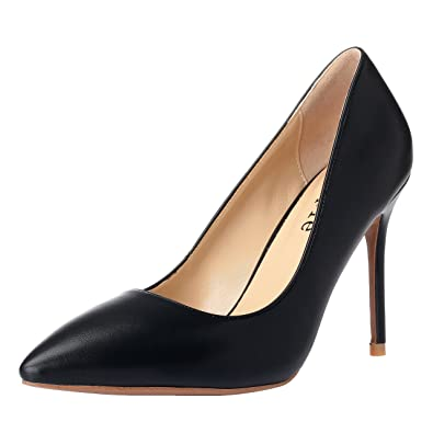 80f3bad5c MAYPIE Women's Sexy Classic Closed Pointed Toe 4 Inches High Heel Stilettos  Dress Pumps, Black