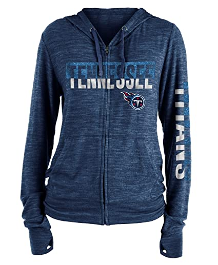 6032ecb87f6c Image Unavailable. Image not available for. Color  New Era Tennessee Titans  Women s NFL Fumble Space Dye Hooded Sweatshirt