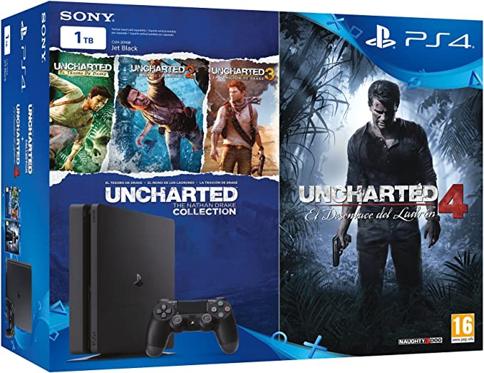 PlayStation 4 Slim (PS4) 1TB - Consola + Uncharted Collection + ...