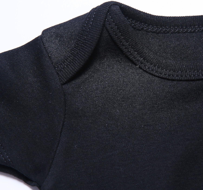 SOBOWO Unisex Baby Bodysuit Solid Infant Cotton Short Sleeve Onsies for Newborn Boy Girl 4 Pack