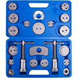 [Requisite] Heavy Duty Disc Brake Piston Caliper Compressor Tool Set and Wind Back Kit for Brake Pad Replacement, Fits Most American, European, Japanese Models - 21 Piece