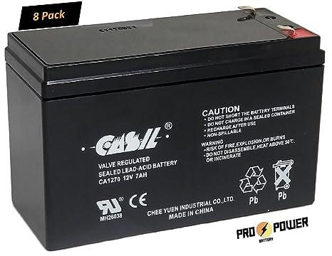 CASIL (8) 12V 7AH CA1270 Batería de plomo ácido sellado para ...