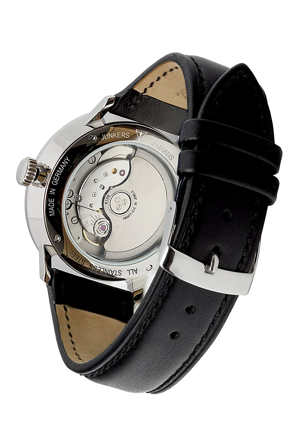 Amazon.com: Junkers Bauhaus Automatic Watch with Power Reserve and ...