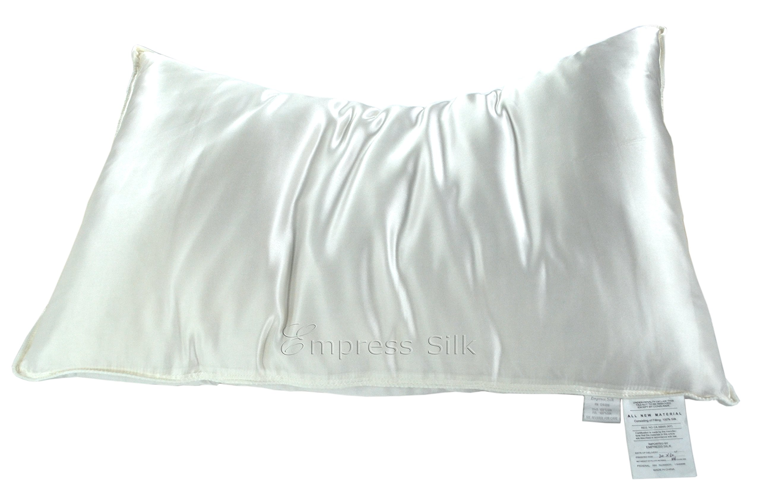 Silk filled Pillow Silk Charmeuse Cover - Queen