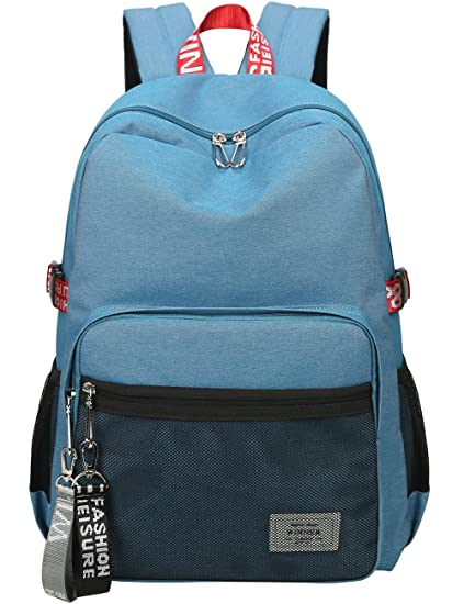 872d7fd92cbc Mygreen Casual Style Lightweight Canvas Backpack School Bag Travel Daypack