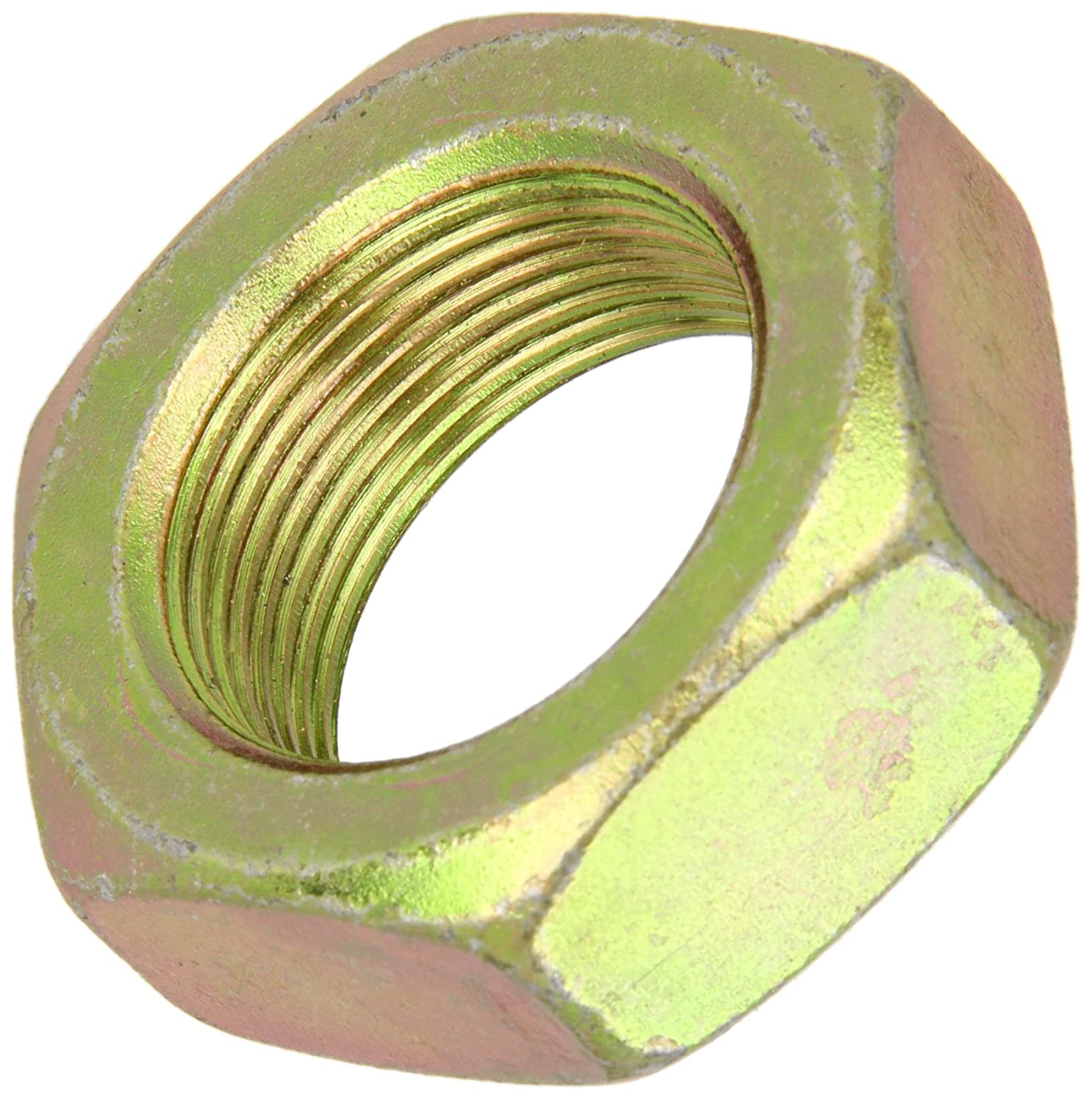 55//64 Thick Steel Hex Nut Pack of 10 1-14 Thread Size 1-1//2 Width Across Flats ASME B18.2.2 Zinc Yellow-Chromate Plated Grade 8