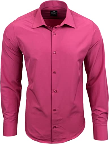 R de 55 Hombre Camisa Business camisas boda Tiempo Libre Slim ...