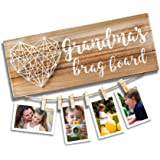 VILIGHT Grandma's Brag Board - Gifts for Grandmother from Granddaughter and Grandson - Nana Granny Photo Holder - 13.5x5.5 In