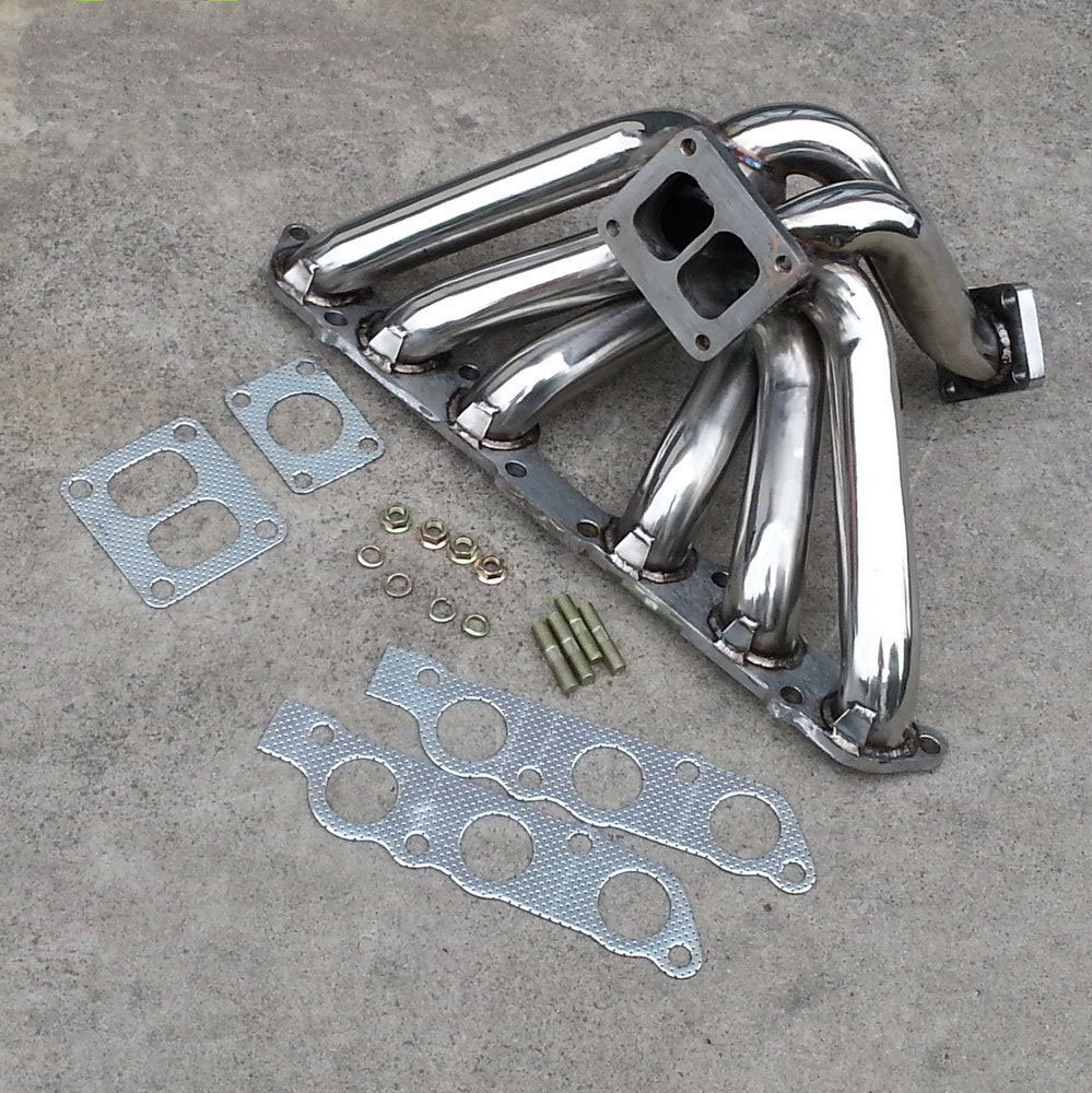Colectores de Escape Turbo turbina del turbocompresor para Toyota Supra Mk4 na (non-turbo) Lexus SC300 IS300 GS300 Turbos inoxidable Turbo colector de ...