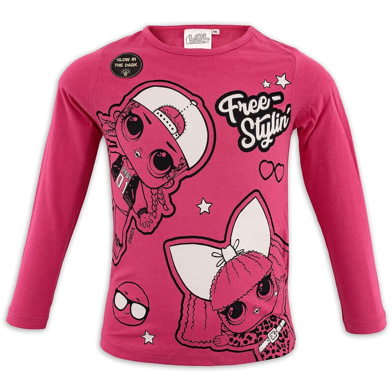 LOL SURPRISE HS1501 - Camiseta de manga larga para niña Bianco 1549 5 Años-110 cm: Amazon.es: Ropa y accesorios