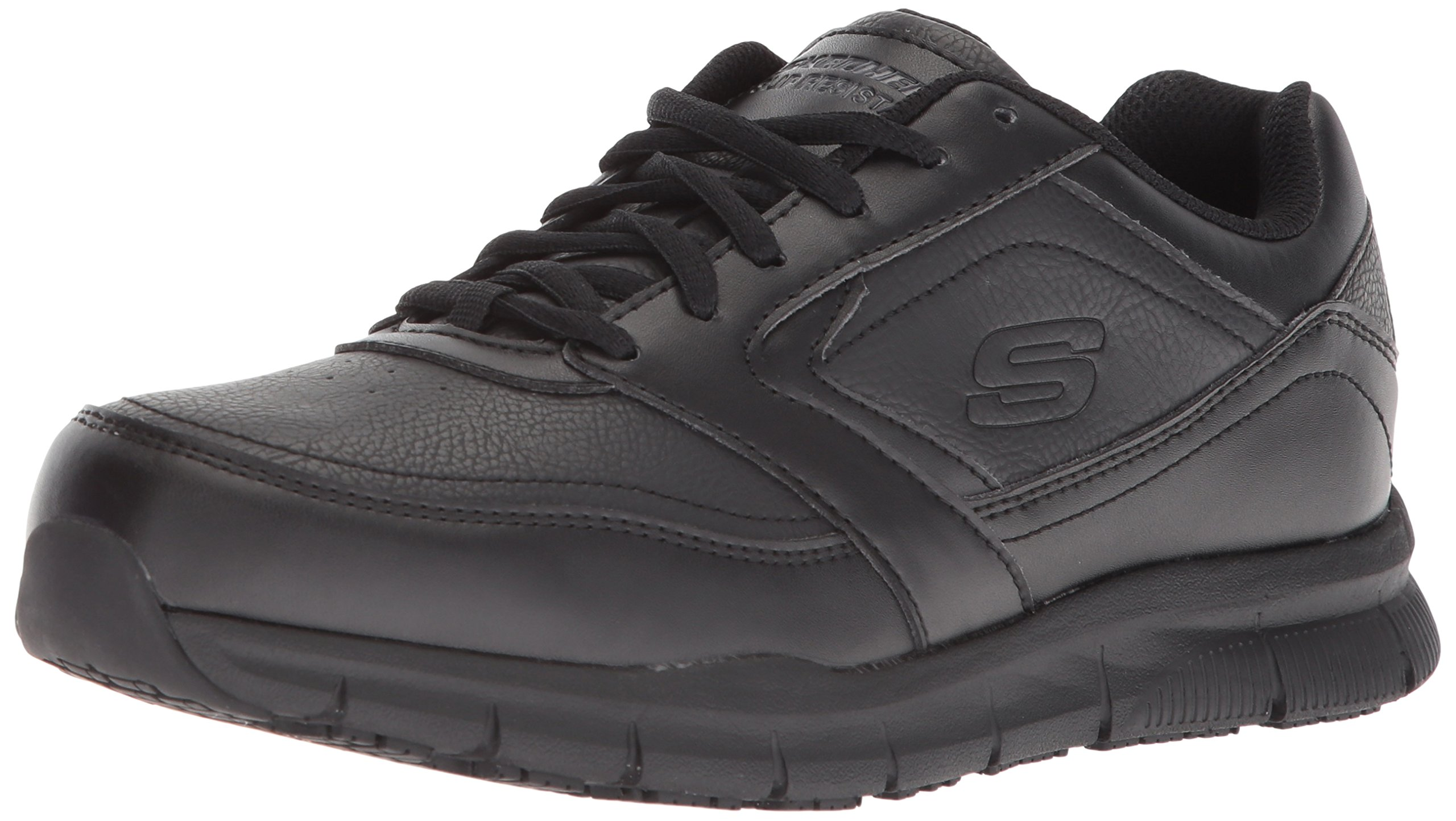 Skechers for Work Women's Nampa-Wyola Food Service Shoe, black polyurethane, 5.5 M US by Skechers