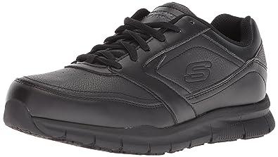Work Womens Nampa-Wyola Food Service Shoe, Black Polyurethane, 11 M US Skechers