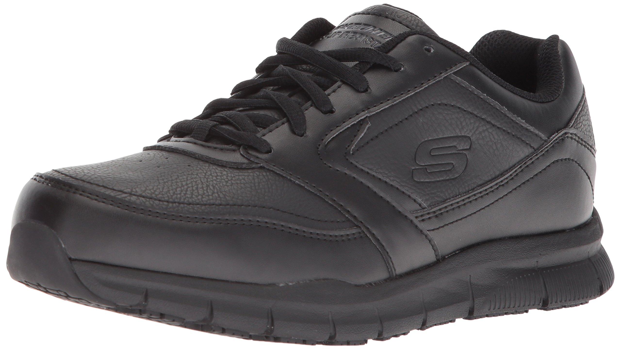 Skechers for Work Women's Nampa-Wyola Food Service Shoe, Black Polyurethane, 8 W US