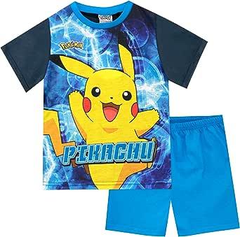 Pokemon Pijamas de Manga Corta para niños Pikachu