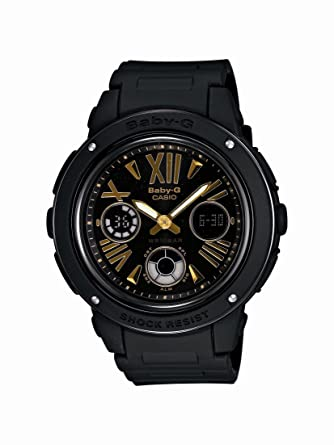 18fa2f2c783 Amazon.com  Casio Women s BGA153-1B Baby-G Baby-G Shock Black and Rosegold  Tone Analog Watch  Casio  Watches