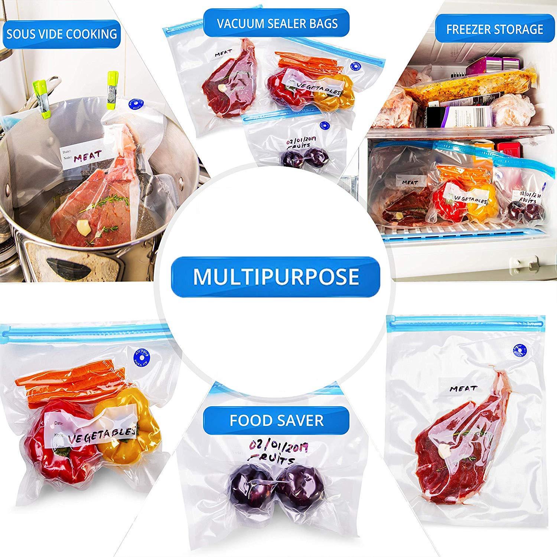 Sous Vide bolsas sin BPA – 34 bolsas de almacenamiento ...