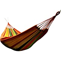 Honesh Outdoor Leisure Double 2 Person Cotton Hammocks 450lbs Ultralight Camping Hammock with backpack