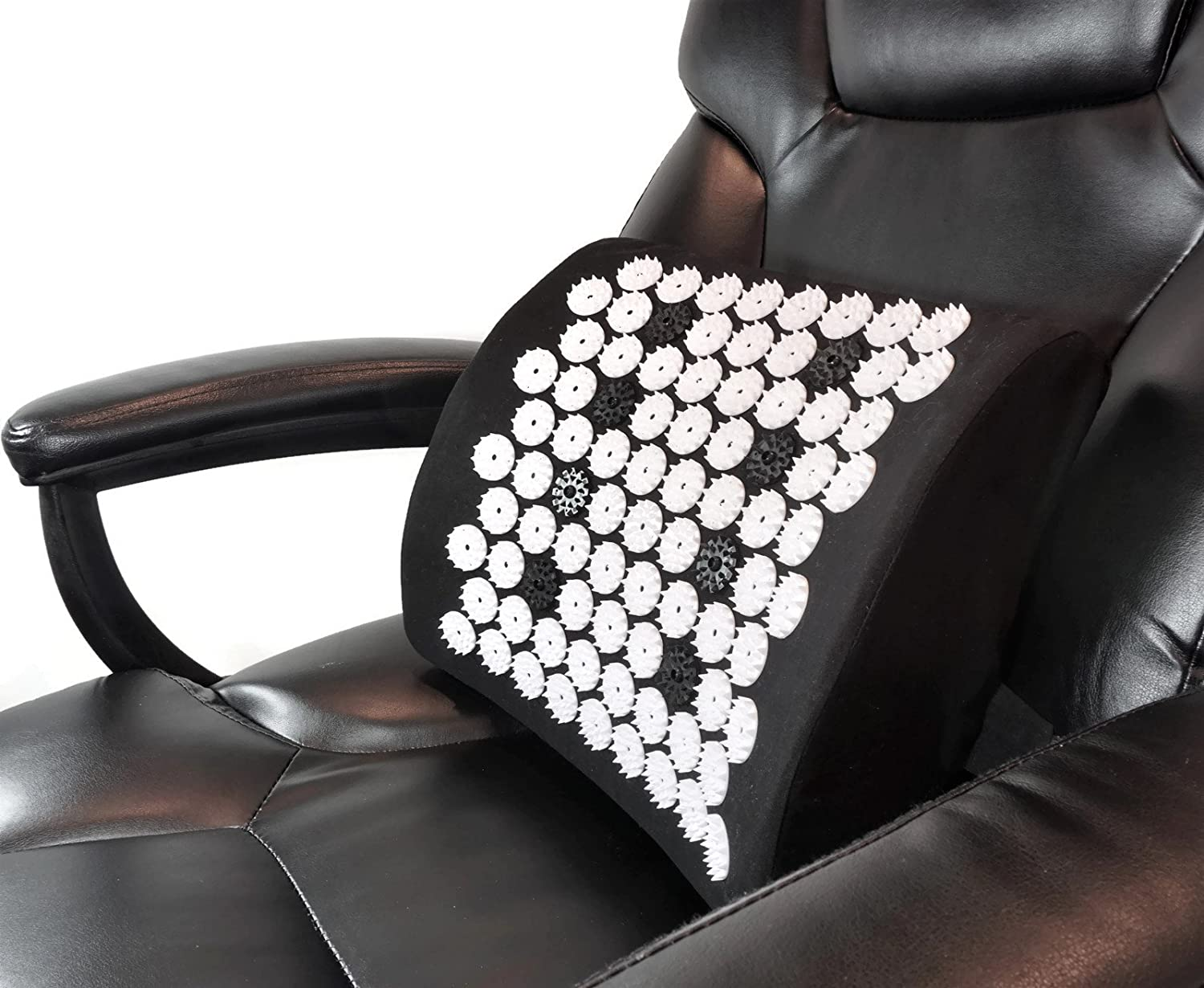 ZenGuru Best Lumbar Support Cushion - Acupressure Massage Back Pillow - Posture Improvement, Back Pain and Stress Relief - with Magnet Therapy - Ideal for Office Chair, Car Seat, Sofa or Recliner: Health & Personal Care