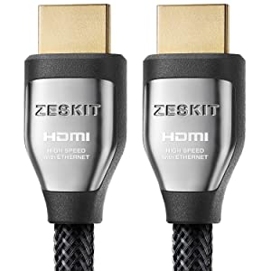 4K HDR HDMI Cable 3ft Cinema Plus 28AWG (4K 60Hz HDR 4:4:4 HDCP 2.2) Exceed 22.28 Gbps HDMI 2.0 Compatible with Xbox PS4 Pro nVidia AMD Apple TV 4K Roku Fire TV Netflix LG Sony Samsung